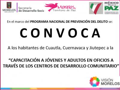 """<a href=""""/noticias/convocatoria-capacitacion-jovenes-y-adultos-en-oficios-traves-de-los-centros-de-desarrollo"""">CONVOCATORIA """"CAPACITACIÓN A JÓVENES Y ADULTOS EN OFICIOS A TRAVÉS DE LOS CENTROS DE DE...</a>"""